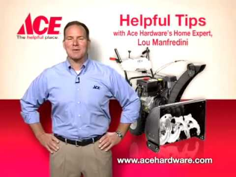Helpful tips on maintaining your snow blower - Ace Hardware
