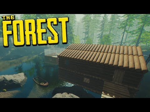 WORK ON OUR LAKE BASE IS INTERRUPTED! - The Forest - S3 Ep14
