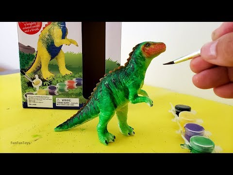How to Paint your own T-REX DINOSAUR | Cómo pintar tu propio Tiranosaurio Rex