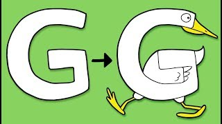 G for Goose - Learn to Draw ABC  | Learn the Alphabet for Kids