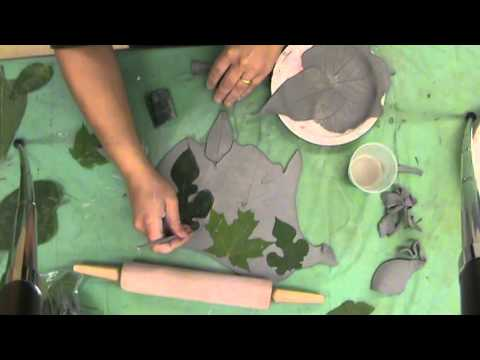 Clay Leaves Step 1: Forming the Clay