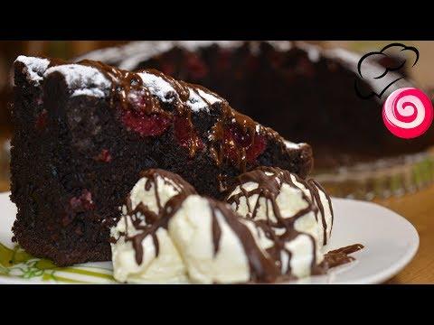 Шоколадный пирог с вишней 🍒
