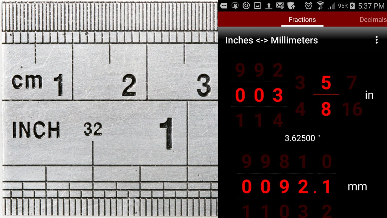 Inches Millimeters Imperial Metric Converter Android App You