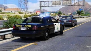 GTAV-Mod-Showcase California Highway Patrol (2011 Crown Vic.) Traffic Stop