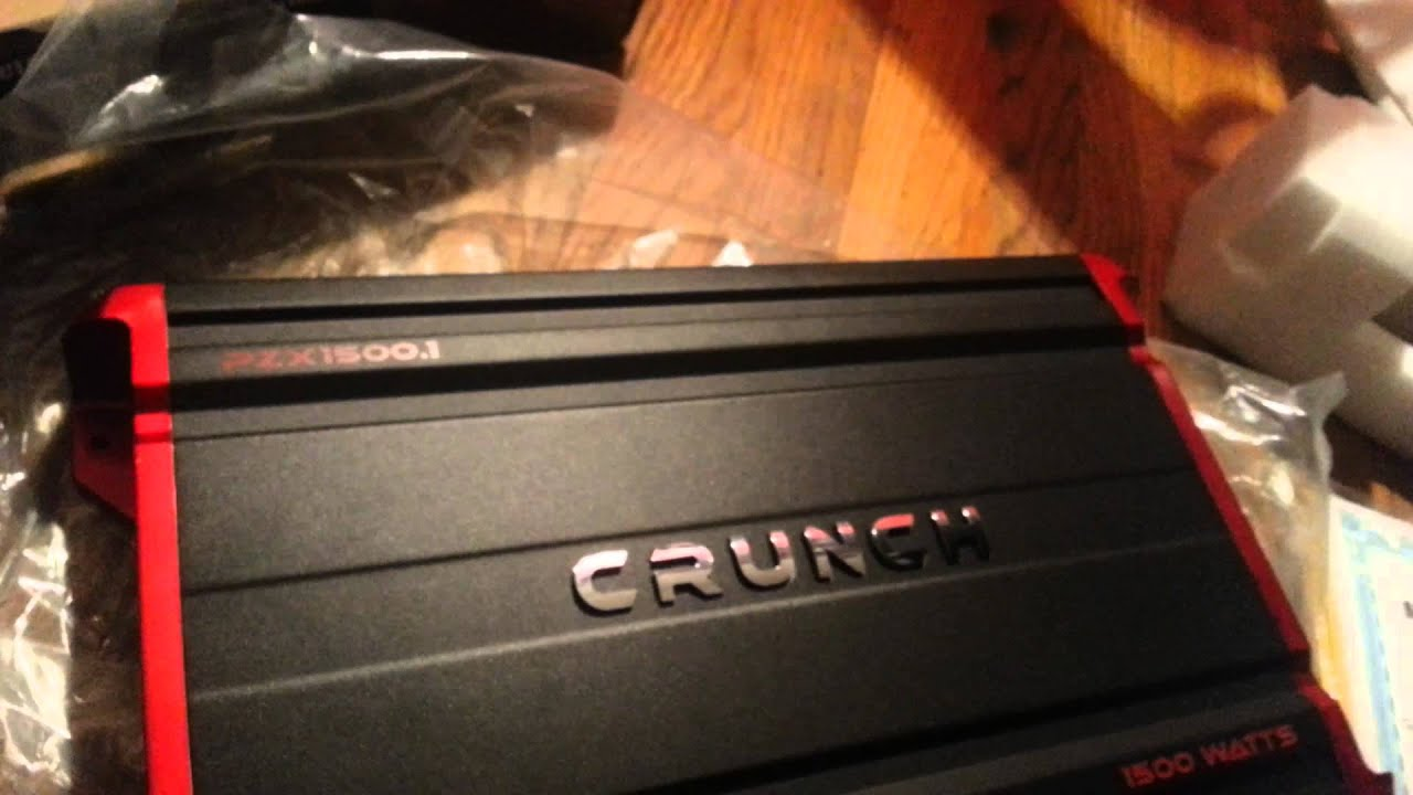 New Crunch Pzx 15001 Amp And Wiring Kit Youtube Diagram