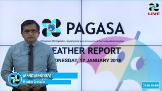 Public Weather Forecast Issued at 4:00 AM January 17, 2018