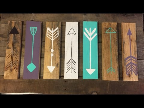 Make a Rustic Decorative Arrow Sign - DIY Home - Guidecentral