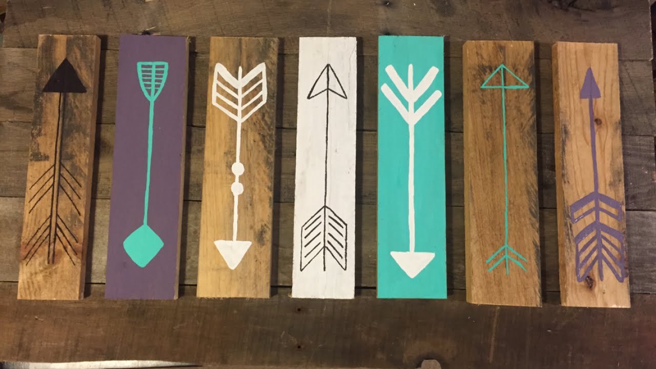 Make a rustic decorative arrow sign diy home for Decoration items made at home