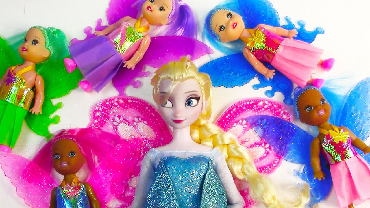 5 Dollar Toys : Colorful fairy barbie dollar tree dolls frozen queen
