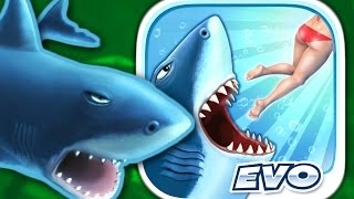 GREAT WHITE SHARK - Hungry Shark Evolution - Part 6 (iPhone Gameplay Video)