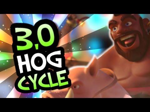 SUPER FAST HOG CYCLE! 3,0 Hog Rider deck for Tournaments! - Clash Royale