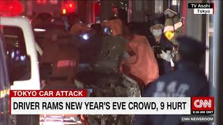 Tokyo car attack: Driver hits New Year's revelers in city's Harajuku district
