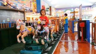 Naik odong-odong mall bagus banget | Kereta kuda PLAYGROUND INDOOR