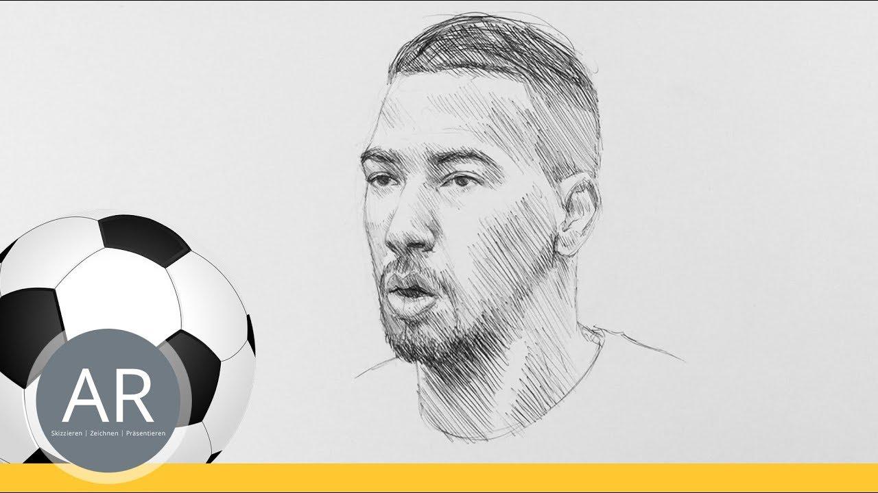 Fussball Quiz Teil 2 11 Wie Zeichne Ich Ein Portrat Gesichter Zeichnen Mit Akademie Ruhr