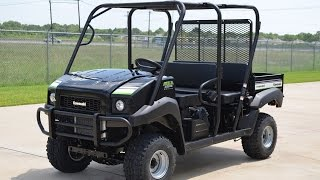 $11,499: 2015 Kawasaki Mule 4010 Trans 4X4 in Super Black Overview and Review