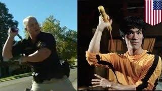 Калифорнийским копам разрешили использовать нунчаки(Полиция города Андерсон в Северной Калифорнии пополнит свой боевой арсенал нунчаками. Лавры Брюса Ли не..., 2015-10-31T11:39:08.000Z)