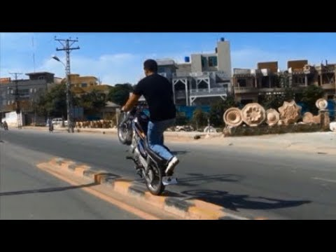 fahad butt sialkot wheeler pakistan motor bike stunt dangerous one wheeling mobile 00923007121313