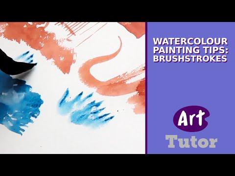 Watercolour Painting Tips: Brushstrokes