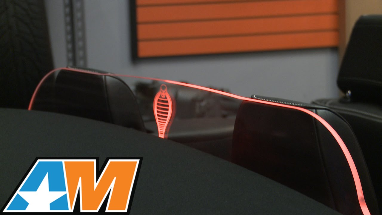 Mustang laser engraved wind deflector coupe convertible 2011 2014 review youtube