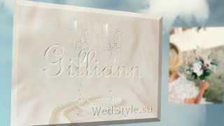 Свадебные бокалы со стразами Сваровски Gilliann GLS080