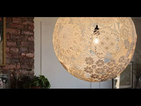 DIY Creative Doily Lamps