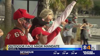 Outdoor face mask mandate announced in Tampa