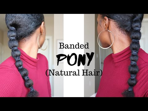 Banded Ponytail Tutorial (NO ADDED HAIR NEEDED) for all Natural Hair lengths! thumbnail