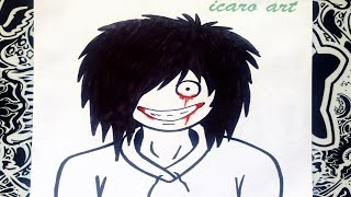 Como dibujar a jeff the killer | how to draw jeff the killer