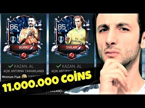11 MİLYON COİNS FUTBOLCU SATTIM !! HIZLI COİNS ARTTIRMA ! Fifa Mobile