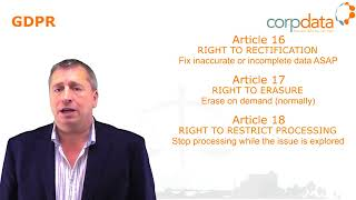 Right to rectification, erasure and restriction? Part 10 in our Guide to GDPR in 1 minute bites