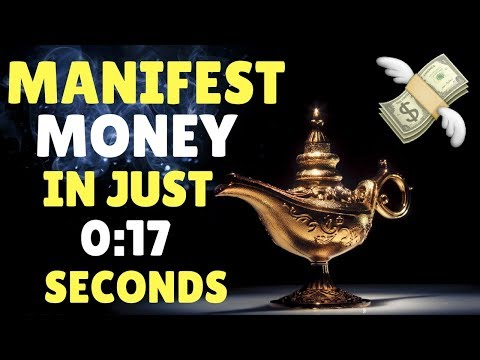 How To Attract MORE MONEY in 17 SECONDS | Law of Attraction (WARNING!! INSTANT RESULTS!!)