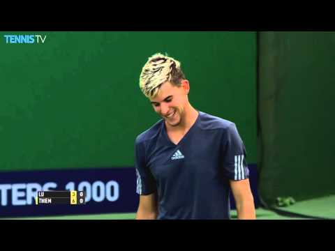 Thiem Hits Remarkable Backhand In Shanghai