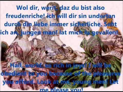Carmina Burana (Orff) W/lyrics And Translations