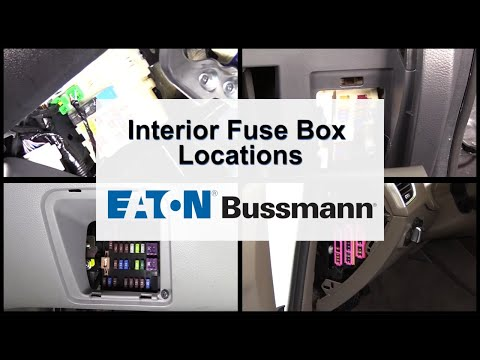 Eaton Bussmann Interior Fuse Panel Location Overview