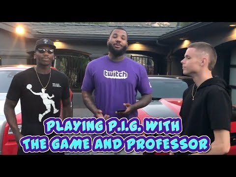 Game plays against Professor, Bone, and Harlem in Round of P.I.G. - vLog Episode # 1