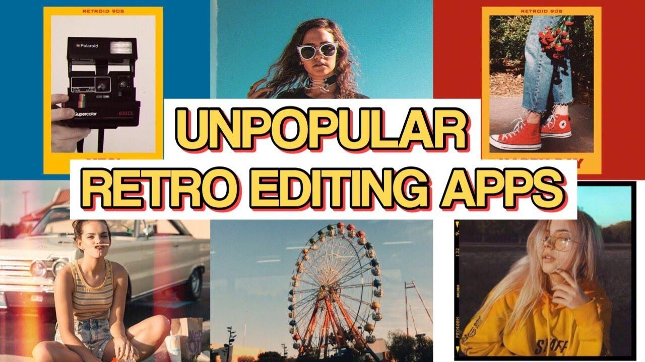UNPOPULAR RETRO EDITING APPS // Part 2 (Vintage, Boho,Aesthetic   )