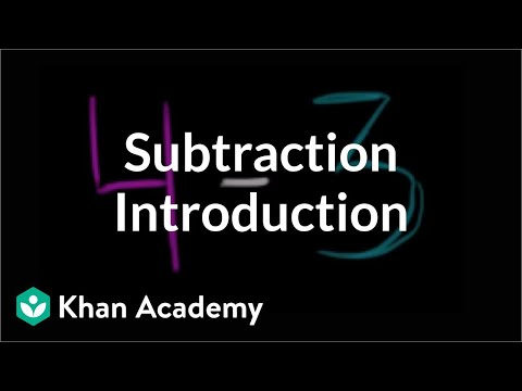 Introduction To Subtraction | Basic Addition And Subtraction | Early Math | Khan Academy