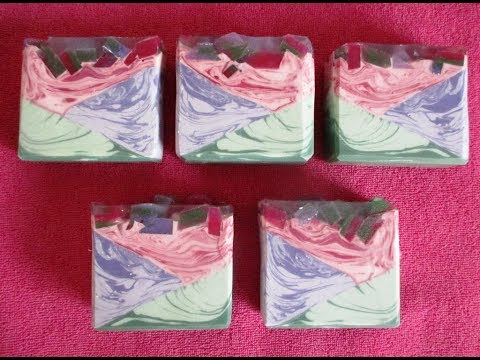 Slanted Layers - Chevron Handmade Soap For The Soap Challenge Club October 2019