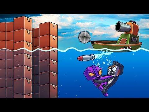 Minecraft | UNDERWATER BOX FORT CHALLENGE! (Indestructible Box Fort)