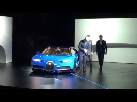 bugatti chiron live unveil geneva motor show 2016 youtube. Black Bedroom Furniture Sets. Home Design Ideas