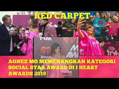 AGNEZ MO -  Red Carpet & Won Social Star Award On I Heart Radio Music Awards 2019