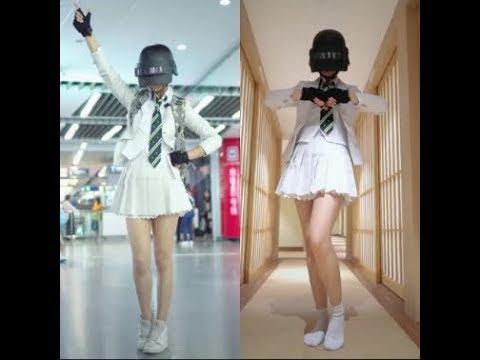 Cosplay Girl PUBG Dance | Tik Tok China Part 1