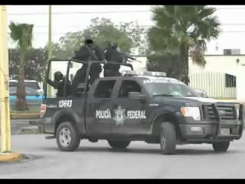 Feds and Soldiers Vs Gulf Cartel gunmen in Reynosa 2 17 09