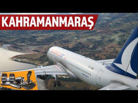 Türkiye'nin en zorlu havalimanı Kahramanmaraş'a iniş!✈️Microsoft Flight Simulator