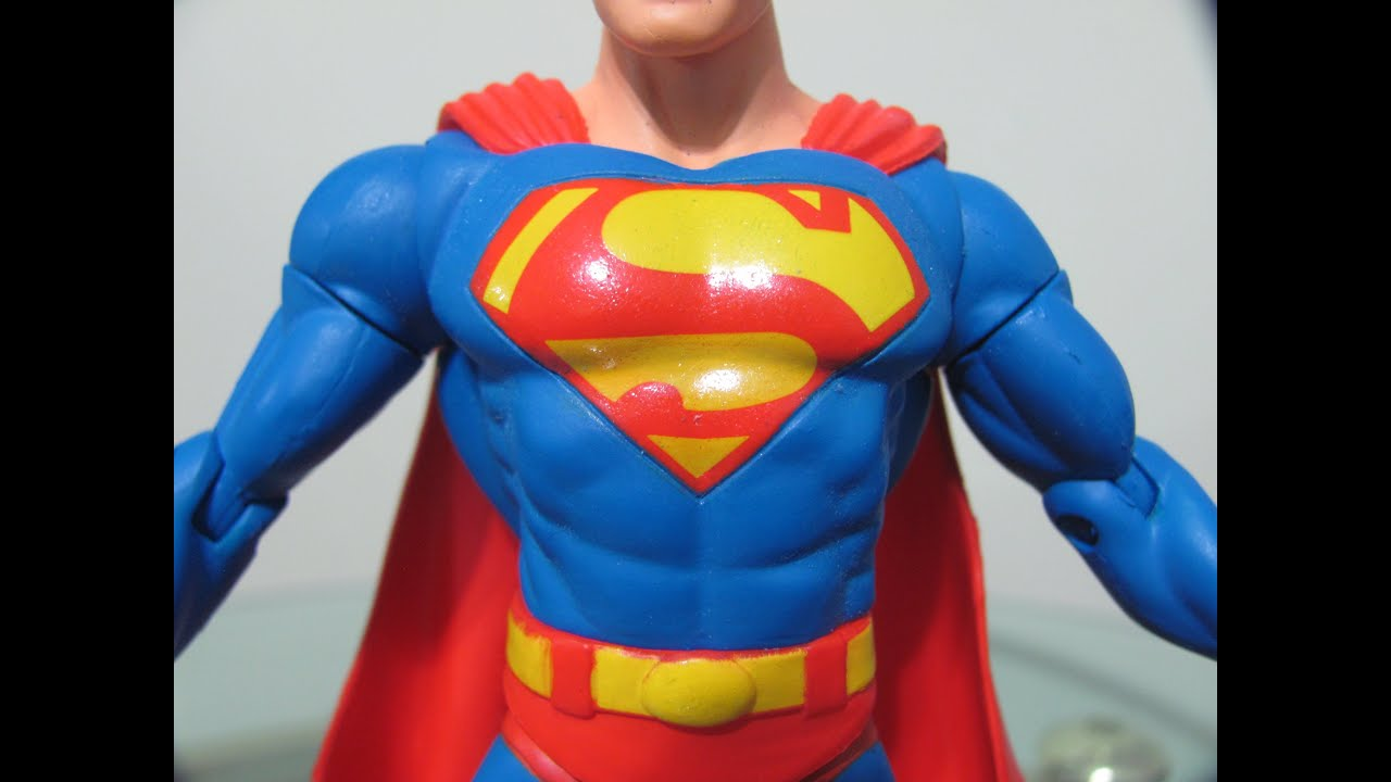 Justice League Review >> DC Direct Series 1 Superman Figure Review + Justice League Display - YouTube