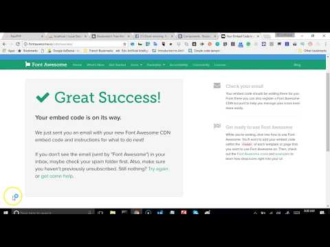 Web development tutorial - recruitment platform - 7 - how to add Icons to website