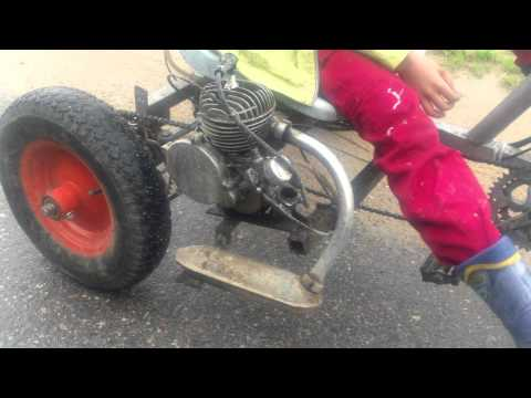 видео: Веломобиль с мотором Д5