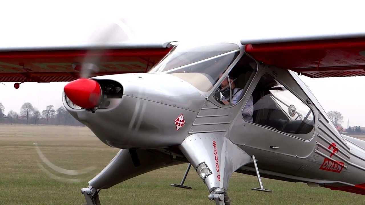 PZL 104 Wilga 2000 - Płock - Lotnisko AZM - 2012r - pilot Jan Chrobociński