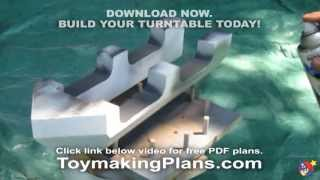 Wood Toy Plans - Spray Or Brush Painting Turntable