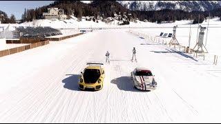 Ice ballet on the frozen lake of St. Moritz
